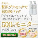プラシエナシャンプー&コンディシナーの500円お試し情報